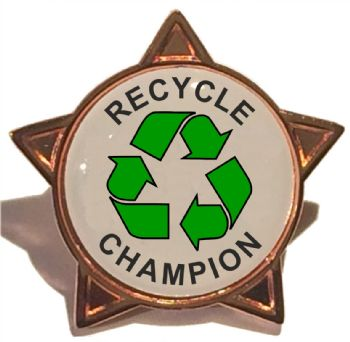 RECYCLE CHAMPION star badge